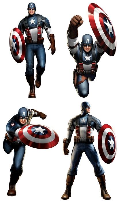 Captain America renders