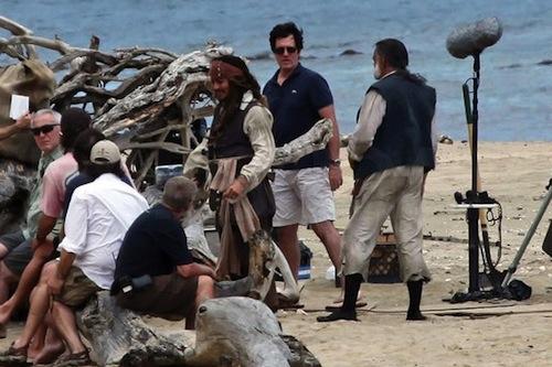 Depp és a Pirates 4 forgatása