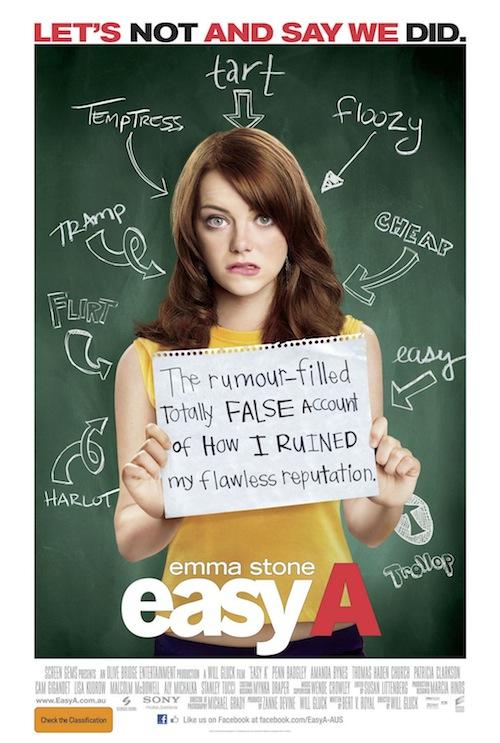 Emma Stone Easy A poszteren