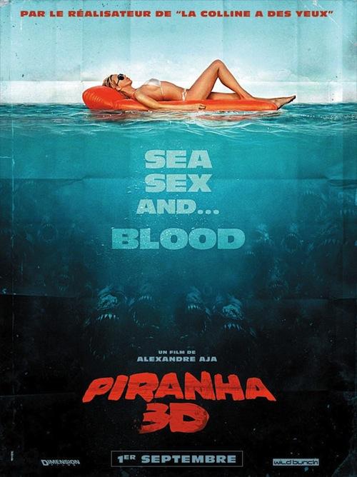 A Piranha 3D francia posztere