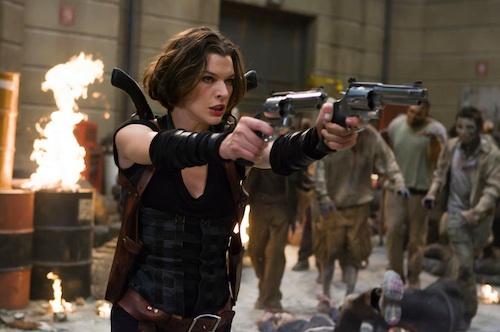 Milla lövöldözik a Resident Afterlifejában