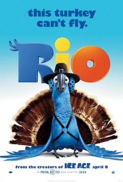 Rio posztereken egy pulyka