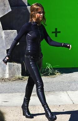 Jessica Alba a Spy Kids 4 forgatásán