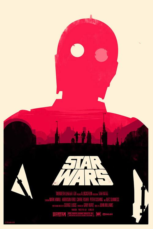 Olly Moss Star Wars poszterei