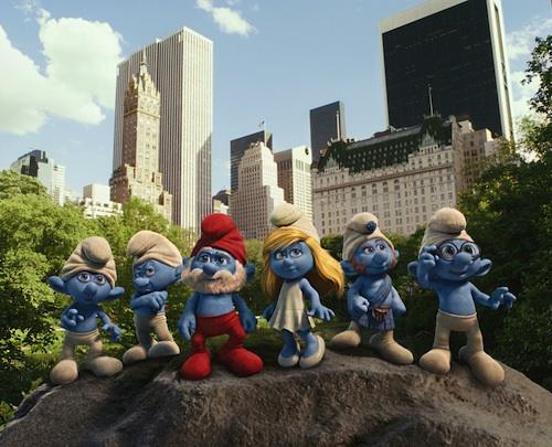 Smurfs 3d in Central Park