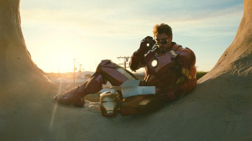 Iron man eszeget a 2. részben