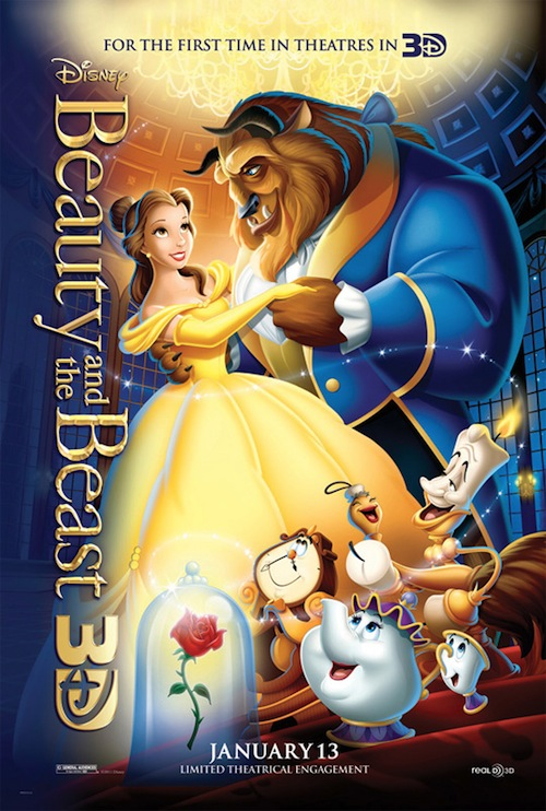 Beauty and the Beast 3d posztere