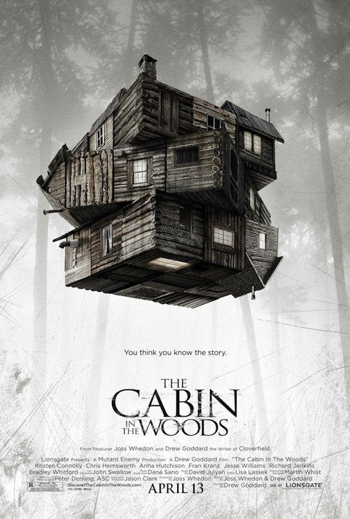 Cabin in the Woods friss posztere