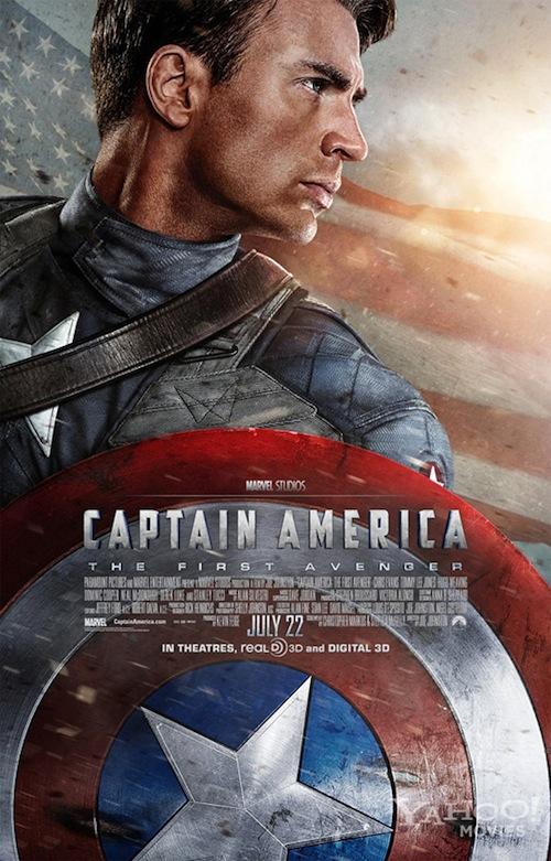 Amerika Kapitány feszít a poszteren