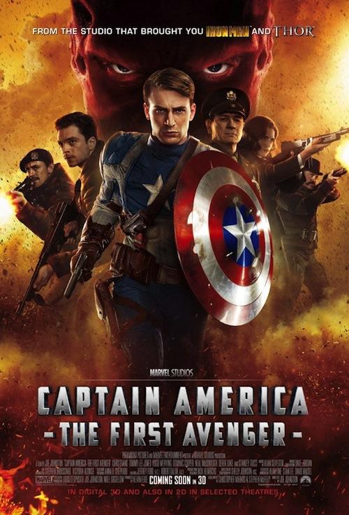 A Captain America nemzetközi posztere