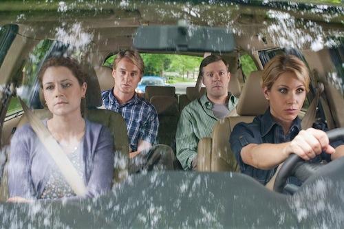 Hall Pass főszereplői egy kocsiban