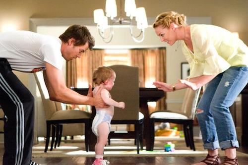 Life as We Know It főszereplő párosa és a kisbaba