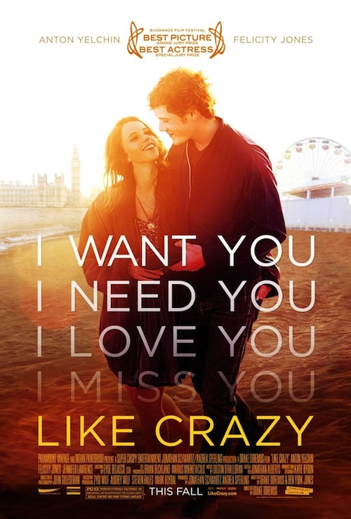 A Likce Crazy poszterén a szerelmi vallomások