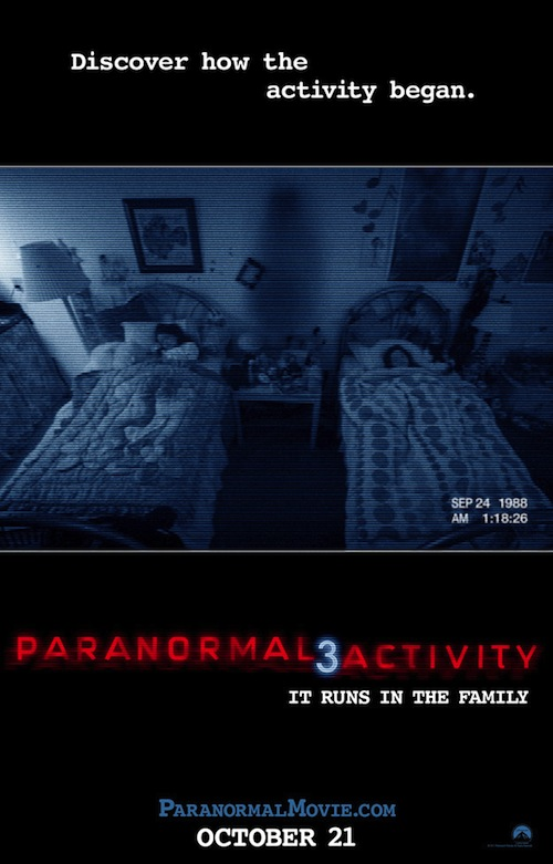A Paranormal Activity 3 posztere