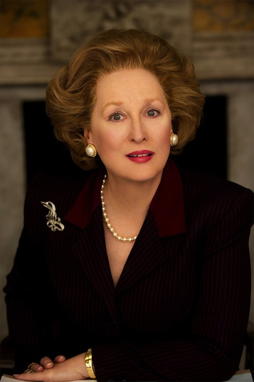 Streep as Thatcher in Iron Lady