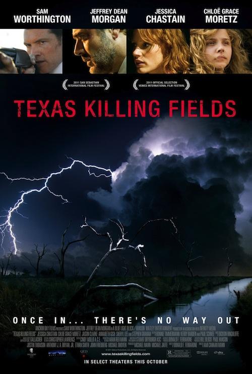Texas Killing Fields posztere felhővel és viharral