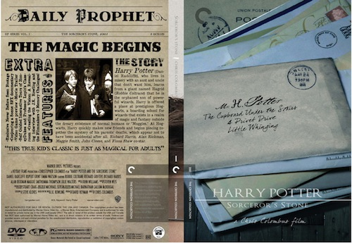Harry Potter dvd mockup @Criterion Collection