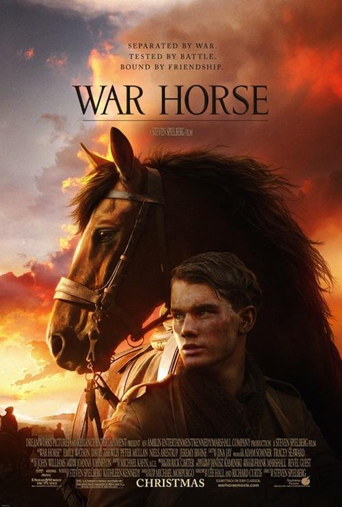 A War Horse poszterén a ló maga