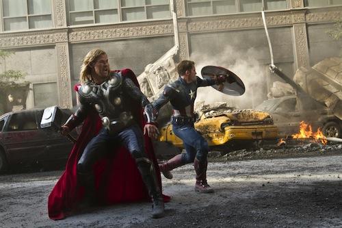 Thor és Amerika kapitány az Avengersben