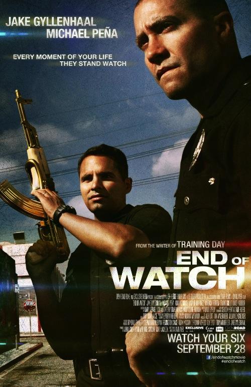 az End of Watch posztere