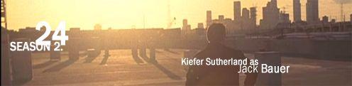 Szép kép a sorozatból rajta a főszereplő és az a felirat, hogy 24 season 2