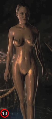 Angelina Jolie nude in Beowulf