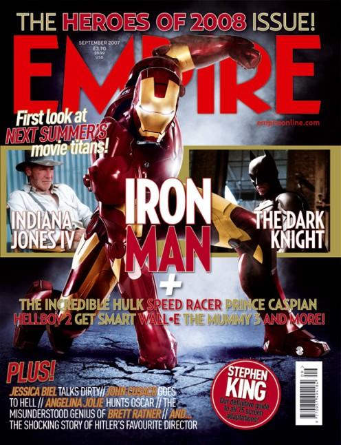 Iron Man az Empire 2008 hősei címlapján