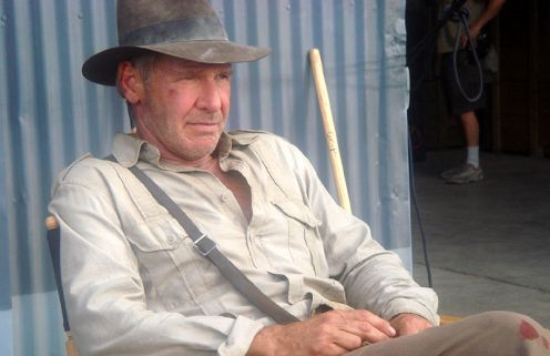 Indiana Jones and the City of the Gods - Harrison Ford on set