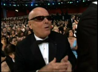Jack Nicholson bald at the Oscars