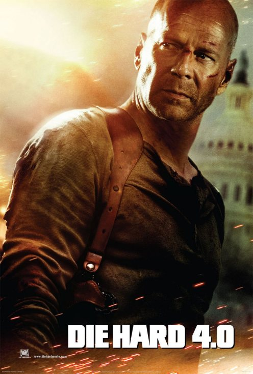 Live Free Or Die Hard poster - Bruce Willis