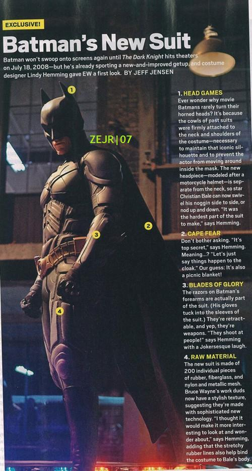 The Dark Knight: New Batman Suit