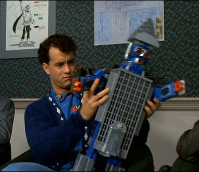 Segítség Felnőttem (Big) - Tom Hanks az épülettransformert nézegeti