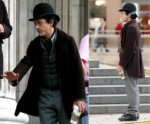 Robert Downey Jr. shooting Sherlock Holmes - first pics