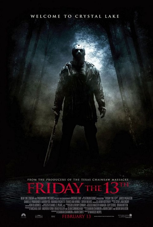 Friday the 13th poster with the badguy
