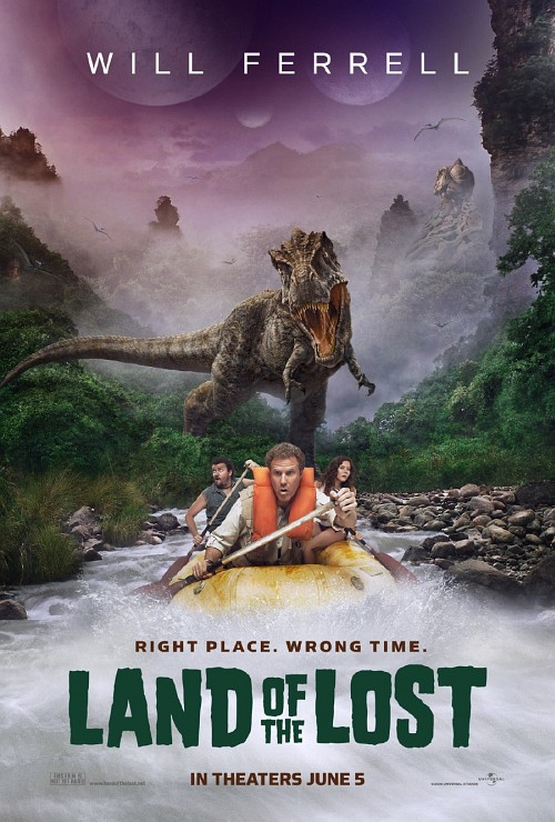 Land of the Lost poszter, Will menekül egy Dínó elől