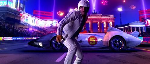 A Speed Racer főszereplő meg a kocsija