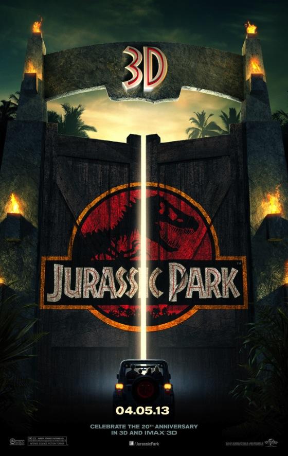 A Jurassic Park 3d posztere