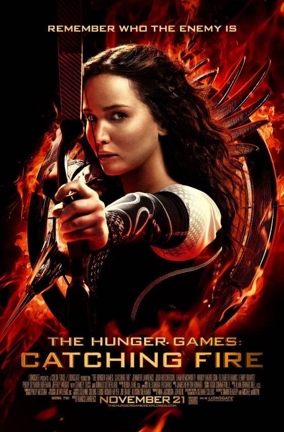 the new HUnger Games: Catching Fire poster