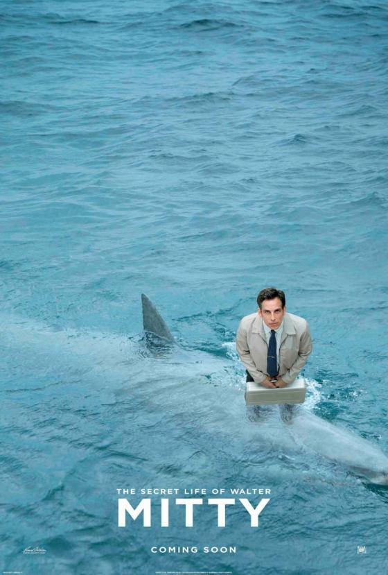 walter mitty cápás posztere