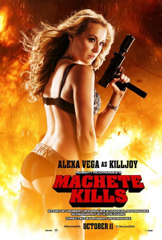 Alexa Vega a Machete Kills új poszterén