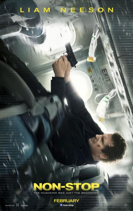 Neeson a Non-Stop poszterén lövöldözik