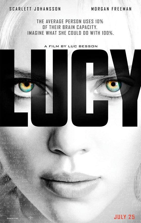 A lUcy posztere, rajta Scarlett Johansson