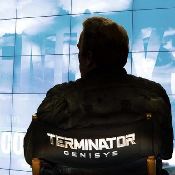 Swarczi az új Terminátor forgatásának a végén