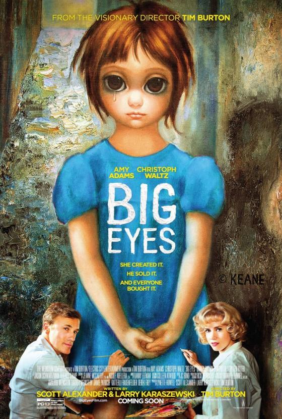 A Big Eyes posztere a főszereplő Amy Adams-szel