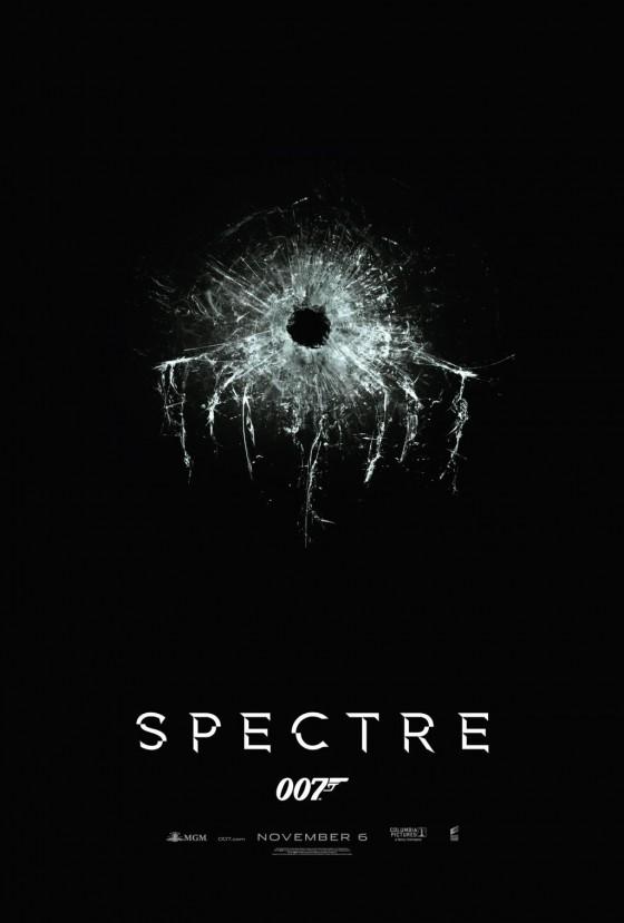 A SPectre átlőtt üvegű posztere