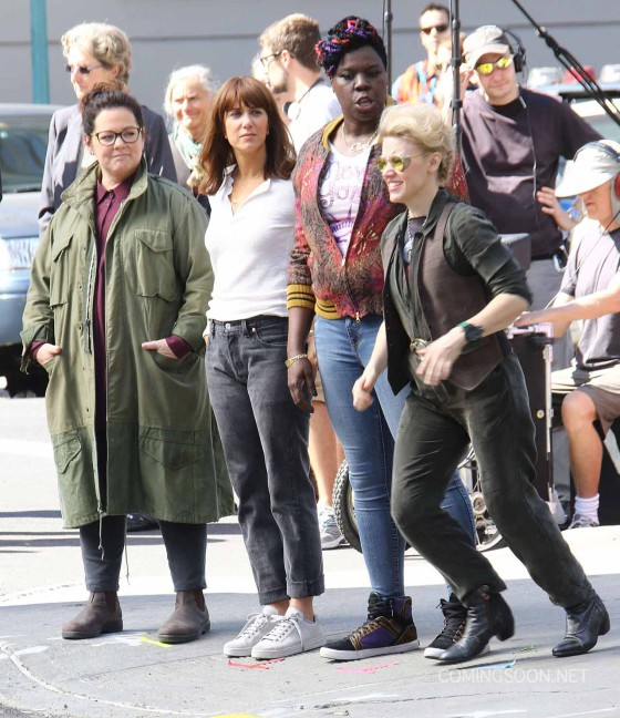 """Stars On The Set Of The New """"Ghostbusters"""" Movie"""