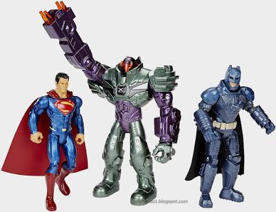 Mattel+Batman+v+Superman+Dawn+of+Justice+Batman+Superman+Lex+Luthor+Figure+3-Pack