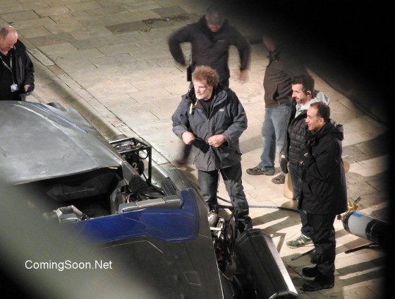 Filming takes place on the set of 'Star Wars: Episode VIII