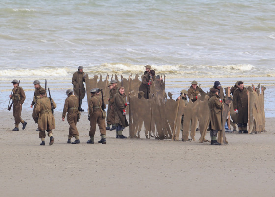 Filming takes place on the set of war movie 'Dunkirk'