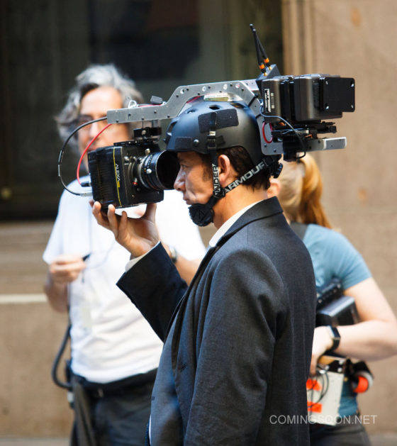 Filming of 'Anon' in New York, United States